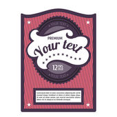 Create your own bottle labels — Stock Vector