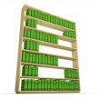 Bookcase alphabet — Stock Photo
