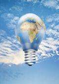 Země žárovka — Stock fotografie