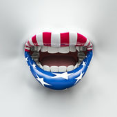 USA lips — Stock Photo