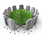 The green boardroom — Stock Photo