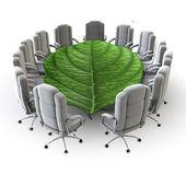 The green boardroom — Stock Photo