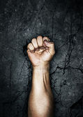 Protest fist — Stockfoto