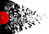 Vinyl shatter — Stock Photo