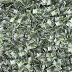 Giant money background flying 100 euro notes — Stock Photo