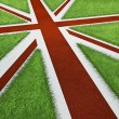 UK sports track flag — Stock Photo