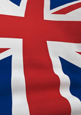 Surface detailed UK flag — Stock Photo