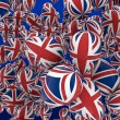 UK balloons — Stock Photo