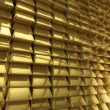 Wall of gold bars — Stock Photo