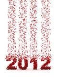 Raining numbers 2012 — Stock Photo