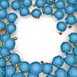Christmas ornaments frame — Stock Photo #9754909