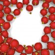 Christmas ornaments frame — Stock Photo