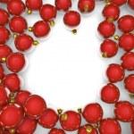 Christmas ornaments frame — Stock Photo