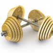 Worth the weight dumbbells — Stock Photo
