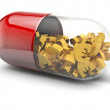Euro pill — Stock Photo