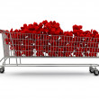 Royalty-Free Stock Photo: Extra large shopping trolley percentages