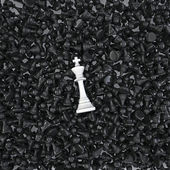 White king on a sea of pawns — Stock Photo