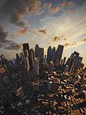 Sunset city — Stock Photo