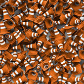 Traffic cones background — Foto Stock