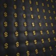 Luxury dollar gold background - Stock Photo