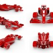 Formula 1 concept SET 2, easy to colorize — Stock Photo