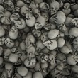 Stockfoto: Skulls background