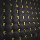 Luxury dollar gold background — Stock Photo