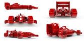 Formula 1 concept SET 3, easy to colorize — Stock Photo