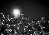 One bulb to rule them all — Stock Photo