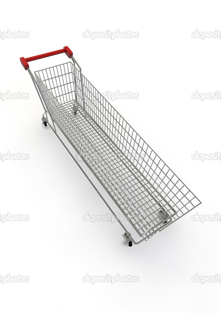 3D render of super sized shopping trolley  Stock Photo #9799867