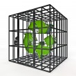 Stock Photo: Caged recycle
