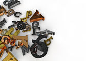 Metallic letters — Stock Photo