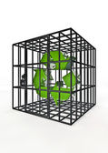 Caged recycle — Stock Photo