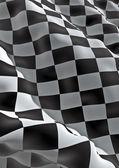 Bandeira quadriculadas — Fotografia Stock