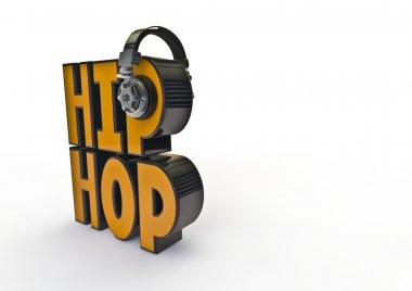 Hip-hop title with headphones