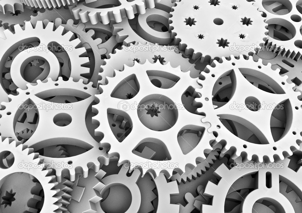 3D render of cogs  Stock Photo #9814516