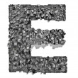 City alphabet letter E — Stock Photo