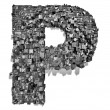 City alphabet letter P - Stock Photo