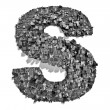 City alphabet letter S — Stock Photo