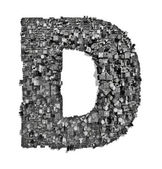 City alphabet letter D — Stock Photo