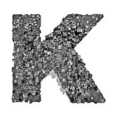 City alphabet letter K — Stock Photo