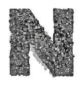 Città alfabeto lettera n — Foto Stock