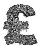 City alphabet pound — Stock Photo