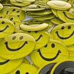 Smiley badges — Stock Photo