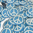 Peace badges — Stock Photo
