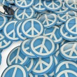 Peace badges - Stock Photo