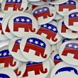 Republican badges — Stock Photo #9888850