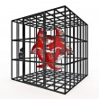 Stock Photo: Caged biohazard