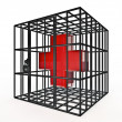 Caged rotes Kreuz — Stockfoto #9888910