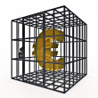 Stock Photo: Caged euro
